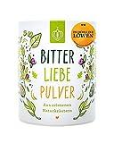 BitterLiebe® Bitterstoffe Pulver 100g mit Ingwer Kurkuma Pulver I Smoothie Pulver und Superfood für viele leckere Rezepte I Bitterkräuter Greens Powder