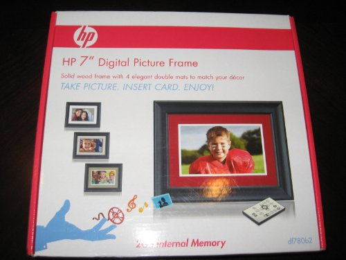 """HP DF780B2 7"""" 2GB Black Wood Digital Picture Frame with 4 Mats Camera Digital Features Frames Photo Picture"""