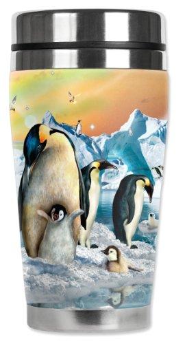 Mugzie® Reisebecher mit isoliertem Neoprenanzug, 450 ml, Pinguin-Küken