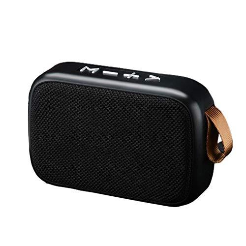 Fandazzie 1pc Altavoz Bluetooth inalámbrico Subwoofer Reproductor de MP3 estéreo Soporte Tarjeta TF Radio FM Altavoces portátiles 115x75x38 mm