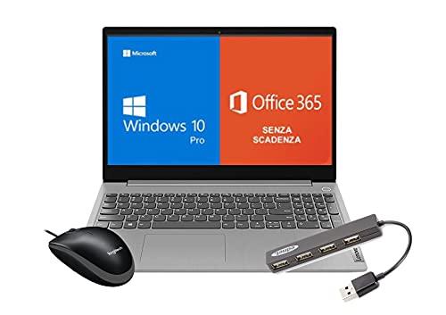 Ordenador portátil Lenovo Ordenador Intel i3-10110U | 8 GB de RAM | 256 GB SSD | Windows 10 + Office 365 oficial | Ratón y Hub USB incluidos