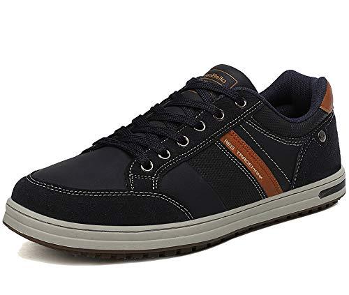 AX BOXING Zapatos Hombre Vestir Casual Zapatillas Deportivas Running Sneakers Corriendo Transpirable Tamaño 40-46 (Azul Z, Numeric_44)