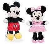 Disney Famosa Softies - 7'87'/20cm Peluche Mickey Minnie Donald Pluto - Calidad Super Soft (Set 2 Peluches Mickey + Minnie)