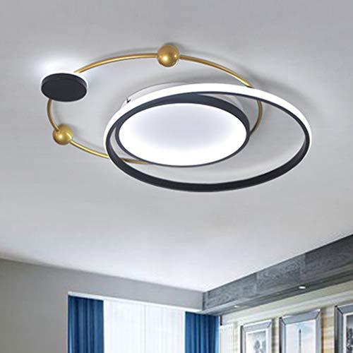 Iluminación de techo moderna Dormitorio Diseño de lámpara de techo regulable Luminaria creativa Diseño de anillo Luz de techo Pantalla de acrílico Led