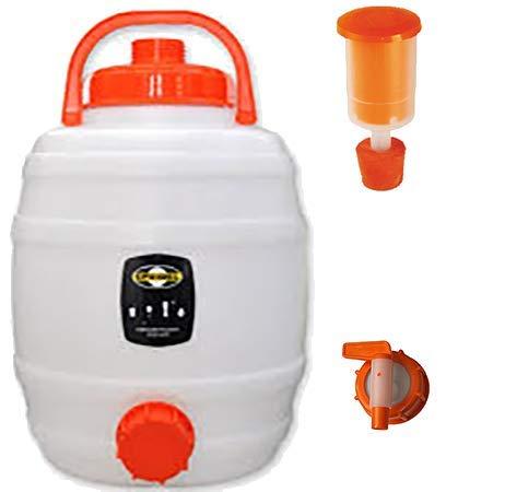 Cuve de fermentation en plastique 12L, Speidel' - Kit complet avec robinet NW 15 et bonde de fermentation