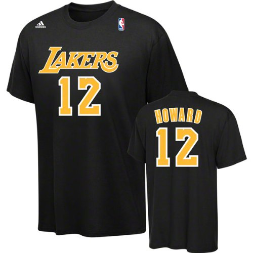 6940f6efefe Dwight Howard Los Angeles Lakers Black Jersey Name and Number T-shirt Small