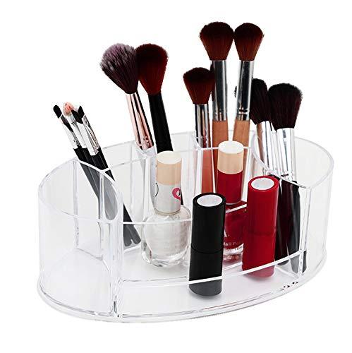 AZYJBF Organizador de Maquillaje Portacepillos Multifuncional Estuche de Almacenamiento de Cosméticos Soporte para Maquillaje, Bolígrafo, Hisopo, Cosméticos, Organizador de Escritorio de 6 Ranuras