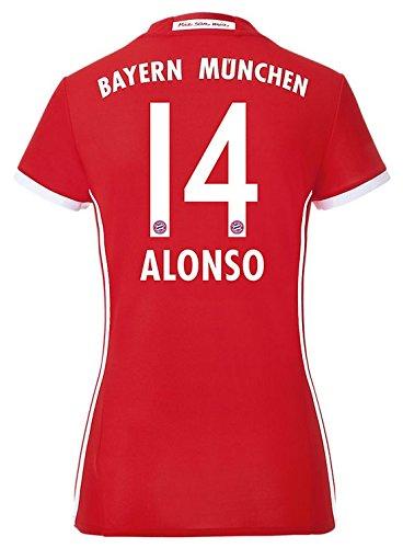 adidas Trikot FC Bayern München 2016-2017 Home Damen (Alonso 14, L)