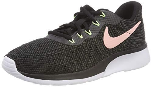 Nike Damen Sneaker Tanjun Racer Laufschuhe, Mehrfarbig (Black/Storm Pink-Anthracite-Barely Volt 009), 37.5 EU