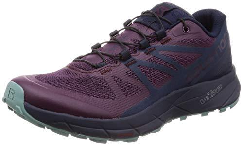 Salomon Women's Sense Ride Trail Running Shoe, Potent Purple/Graphite/Navy Blazer, 10.5