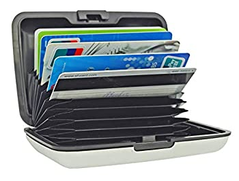 UTRAX 12 Slots Metal Cards Wallet Multi Pockets Aluminum Purse Credit Card Organizing Hard Case Holder for RFID Scan Protection  SILVER