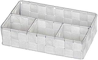 WENKO Organiseur de salle de bains Adria petit, blanc - 4 compartiments, Polypropylène, 26 x 6.5 x 17 cm, Blanc