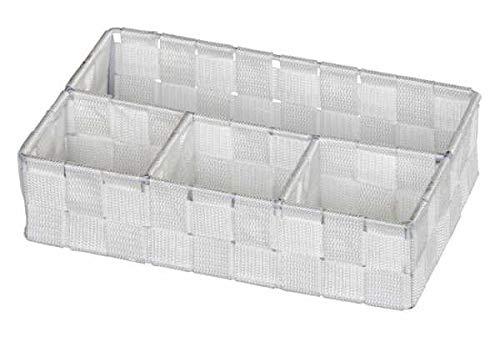 WENKO Organizer Adria Klein Weiß Füllkörbchen Wäschebox Ablage spielzeugbox Badutensilien Obstkorb