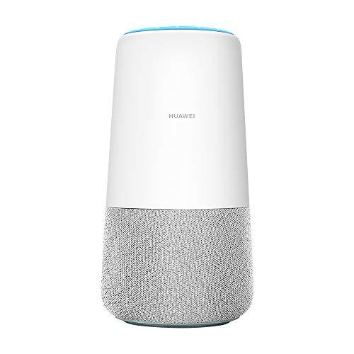 Huawei AI Cube Router 4G, Speaker con LTE Cat-6, Amazon Alexa Integrato, Velocità di Download fino a 300 MBps, Potente Sound System, Bianco/Grigio