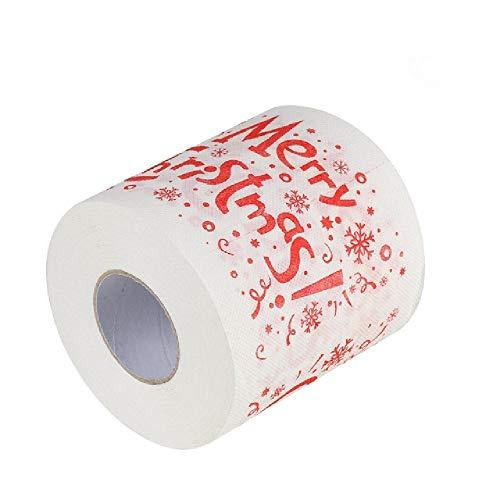 OKJI 1 Roll Kerstman/hert vrolijke kerst benodigdheden bedrukt toiletpapier Thuis bad woonkamer toiletpapier Weefselrol Xmas#10