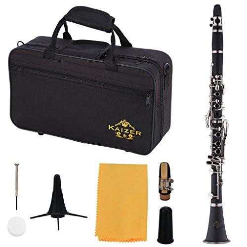 Kaizer Clarinet B Flat Bb Ebony Black CLE-1000EB