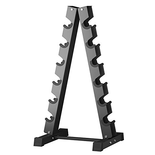 6 Tier Dumbbell Rack Stand Steel Weight Rack for Dumbbells AFrame Dumbbell Rack Stand Dumbbell Holder Versatile Design Dumbbell Rack for Home Gym