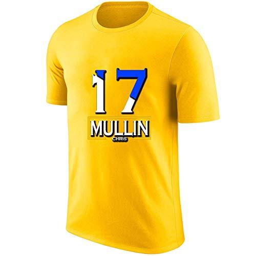 LJF Baloncesto Manga Corta Chris Mullin # 17 Camiseta Deportiva Transpirable Regalos Navideños Para Amigos (Color : G, Size : XXL)