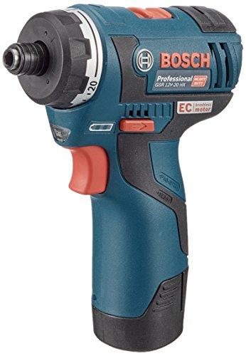 Bosch Professional GSR 12V-20 HX Akku und Bohrschraube