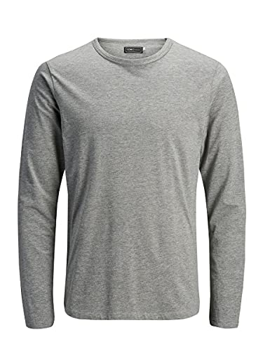Jack & Jones Storm Sweat - Camiseta de manga larga con cuello redondo para hombre, Grau (LIGHT GREY MELANGE JJ LIGHT GREY MELANGE), 50