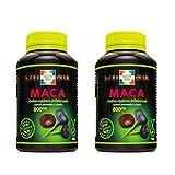 Amazon Green - Pack Ahorro 2x Maca Andina Gelatizada 800mg 100C x 2 - Compuesto por Maca Roja y Maca Ngera originaria del Perú - Ayuda a adaptarse al de estrés, cansancio y mejorar rendimiento.