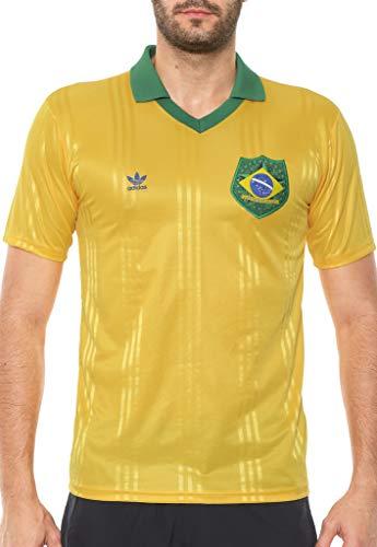 Camisa Adidas Originals Brasil Fan Amarela FT6422 (G)