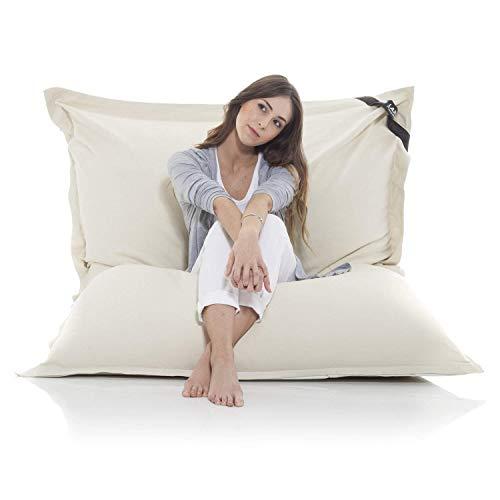 Poltrona a sacco gigante XXL Beanbag grande coperta in cotone 400L bean bag gigante cuscino per sedia per bambini e adulti 180 x 140 cm