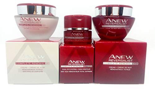 Avon Anew Reversalist Komplette Erneuerung: Augencreme + Tagescreme + Nachtcreme, Set