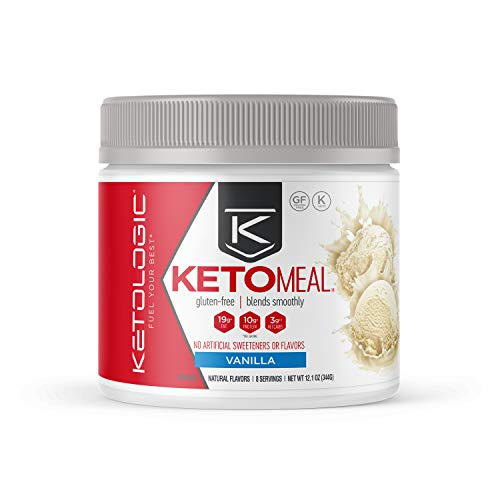 KetoLogic Keto Meal Replacement Shake Powder: Vanilla (8 Servings) – Low Carb, Keto Shake Rich In MCT Oil, Healthy Fats and Whey Protein - Formulated Macros Support Keto Diet & Ketosis