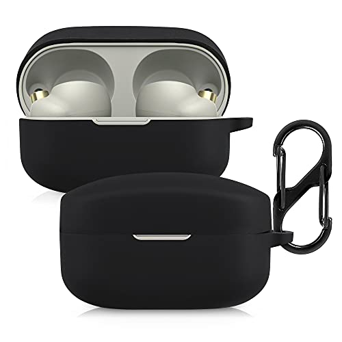 kwmobile Schutzhülle kompatibel mit Sony WF-1000XM4 - Hülle Kopfhörer - Silikon Case Cover Schwarz
