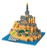 Nanoblock Kawada 58513937 - Puzzle 3D (Nivel de dificultad 3, 390 Piezas), diseño de Mont-Saint-Michel