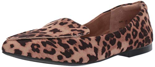 Amazon Essentials Damen Manny Flacher schlupfschuhe, Mehrfarbig (Leopard), 38.5 EU (5.5 UK), 7.5 US