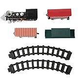 needlid Juguete de Tren eléctrico, Material plástico Que se Puede Combinar en un Tren de Tren de Pista elíptico Triangular, para niños niñas