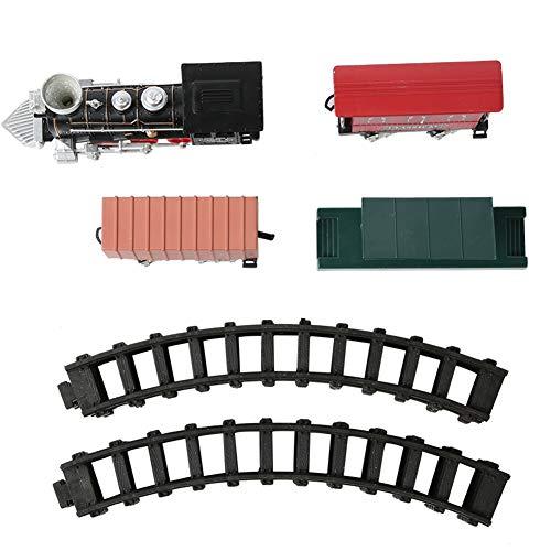 Juego de juguetes eléctricos de vía de tren retro, Vintage Steam Train...