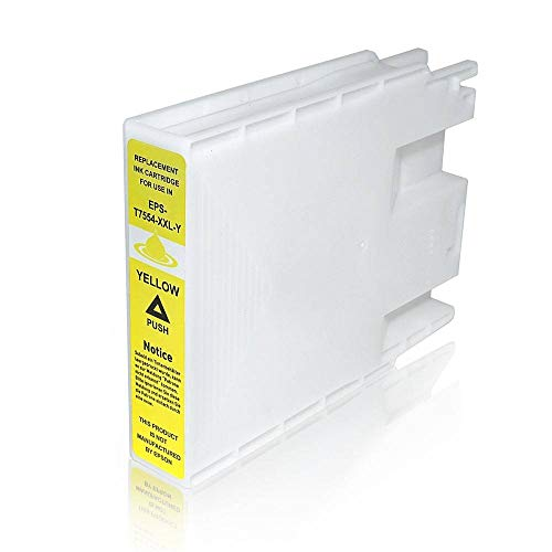 T7554 Cartuccia Compatibile Giallo Per Epson WorkForce Pro WF-8010 WF-8090 WF-8510 WF-8590
