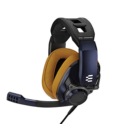 EPOS I Sennheiser GSP 602 Professionelles Gaming- Headset (mit passiver Geräuschunterdrückung), Black and brown, One- size