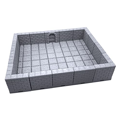 Locking Dungeon Tiles - Masonry and Stone, Wargame Terrain for Tabletop 28mm Miniatures, 3D Printed Scenery, EnderToys