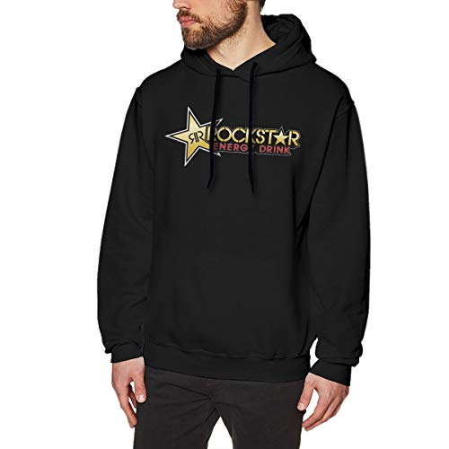 MYHL Men's Rockstar Energy Drink Graphic Fashion Sport Hip Hop Hoodie Sweatshirt Pullover Tops