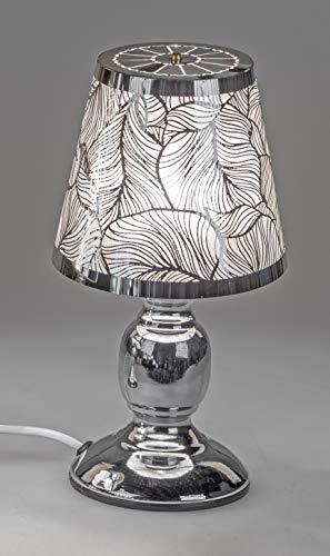 formano Tischlampe, Leuchte BLÄTTER H. 26cm D. 14cm mit Touch Silber F20