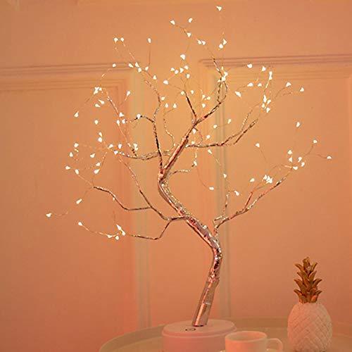 Matedepreso Alambre de cobre llevó la luz de la noche de la forma del árbol 36leds 108leds decoración del hogar DIY