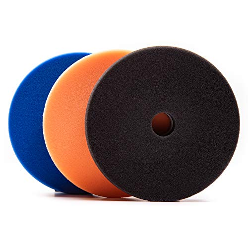 Lake Country HDO Blue, Orange, and Black Cutting and Finishing Kit, 5.5 Inches x 1.0 Inch (3-Pack)
