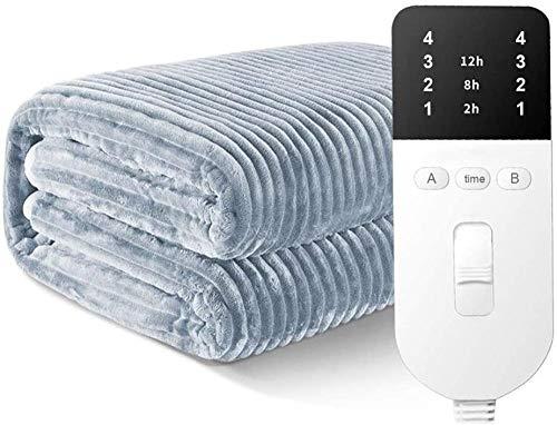 HUIQ Manta eléctrica tamaño Cama Doble | Funda de colchón con calefacción...