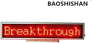 BAOSHISHAN 110V/220V 16x96 Red LED Scrolling Sign Screen Message Display Mini Moving Desk Board Advertising/programmable/Support Any Language