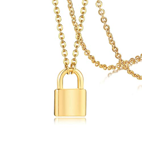 liuliu New Punk Tiny Lock Choker Necklace Stainless Steel Padlock Pendant Gold And Silver Color Charm Small Daily Jewelry