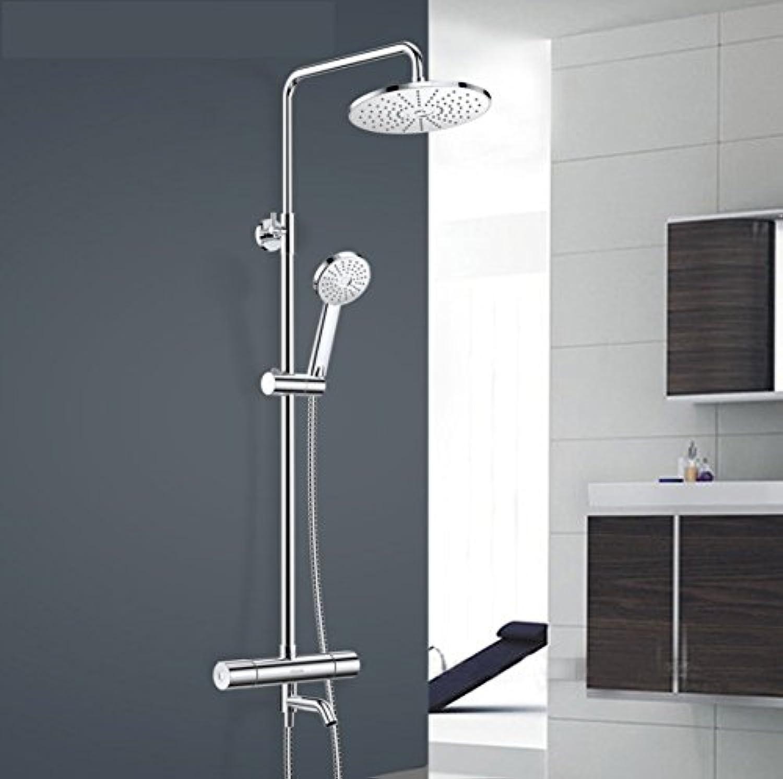 ZHFC Dusche-Set, alle Bronze dritten Gang Dusche Combo Setr, Duschsystem, feste Dusche Handbrause Wasserhahn Set, kann auf und ab gehen