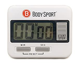 BodySport Digital Timer – Sports Stopwatch and Countdown Timer for Fitness & Exercise Routines – Multifunctional Timer for Gym, Kitchen, Classroom, and Office Settings – Easy to Use – Battery Operated