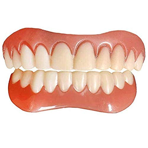 Dentadura Superior e Inferior Dientes Postizos de sonrisa instantánea Para dientes inferiores e superiores, Dentadura Sonrisa perfecta Chapas Dientes Para sonrisa perfecta