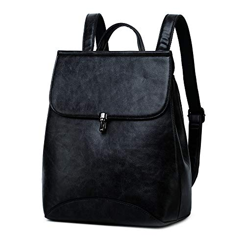WINK KANGAROO Fashion Shoulder Bag Rucksack PU Leather Women Girls Ladies Backpack Travel bag (Yellow brown)