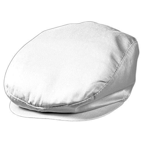 MYRTLE BEACH - Casquette plate boulanger - boucher - MB007 - coloris blanc