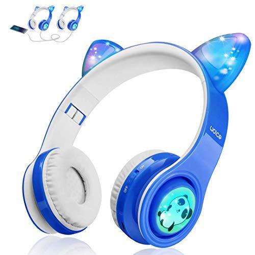 Wireless Bluetooth Kids Headphones, LED Flashing Lights, Music Sharing Function, 85db...